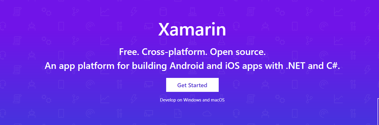 Xamarin is a framework which is used to build a cross platform mobile app
